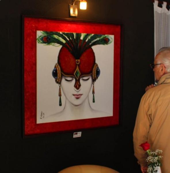 02_ Vernissage 12_ 01_ 2012 im Restaurant Pedramale in Benissa