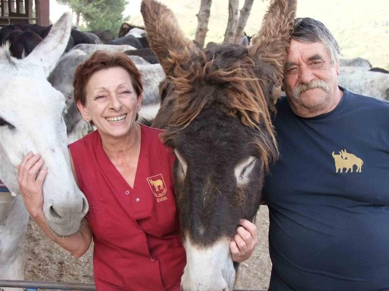 10. Edith und Alex  und ihre Esel
