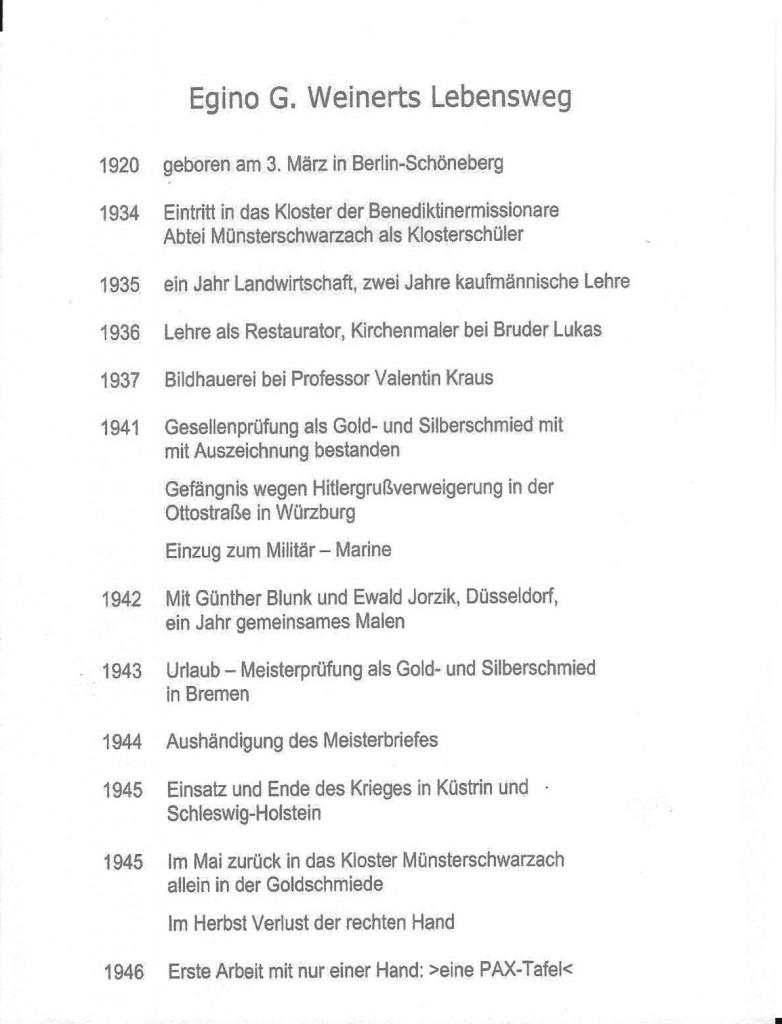 Egino Weinert Curriculum 1