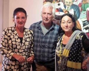 Natascha mit Künstler Marc Meyer und Romy Köster