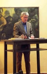 Marcel F. Bischof las aus eigenen satirischen Werken