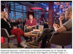 Schweizer Literaturclub mit Heidenreich